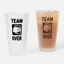 Team Over Drinking Glass