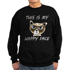 This Is My Happy Face (Dk) Sweatshirt