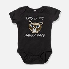 This Is My Happy Face (Dk) Baby Bodysuit