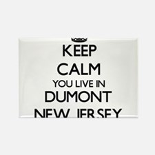 Keep calm you live in Dumont New Jersey Magnets