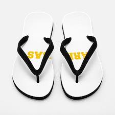 ARKANSAS-Fre gold 600 Flip Flops