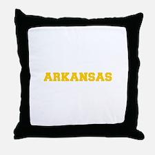 ARKANSAS-Fre gold 600 Throw Pillow