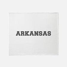 ARKANSAS-Fre gray 600 Throw Blanket