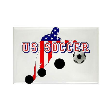 US Soccer Player Rectangle Magnet (10 pack)