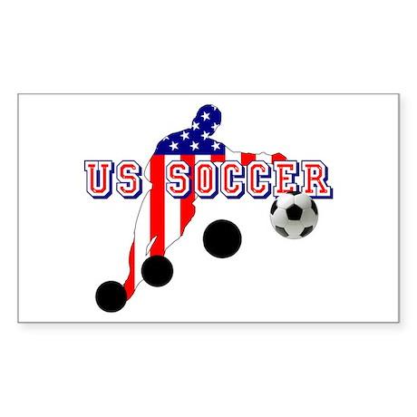 US Soccer Player Sticker (Rectangle)