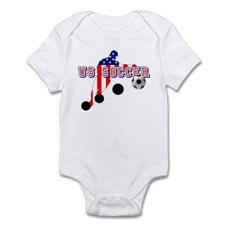 US Soccer Player Infant Bodysuit