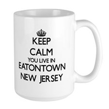 Keep calm you live in Eatontown New Jersey Mugs