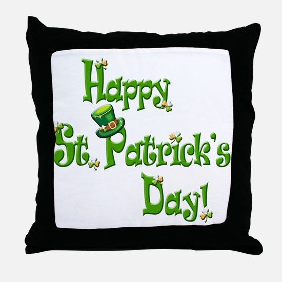 Happy St. Patricks Day Throw Pillow