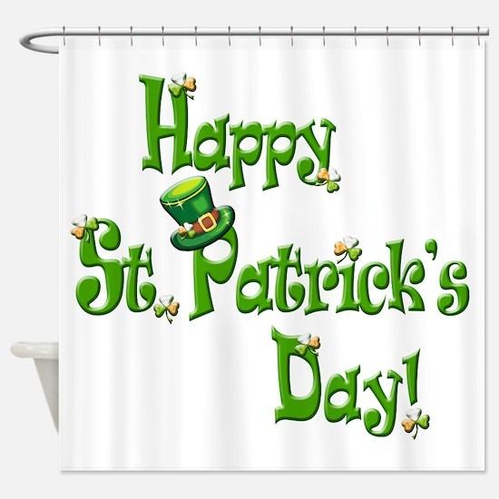 Happy St. Patricks Day Shower Curtain