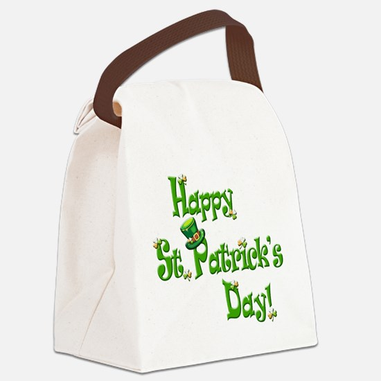 Happy St. Patricks Day Canvas Lunch Bag