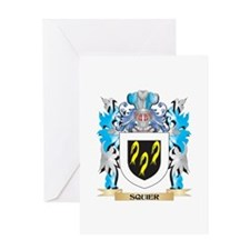 Squier Coat of Arms - Family Crest Greeting Cards