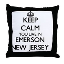 Keep calm you live in Emerson New Jer Throw Pillow