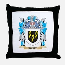 Squire Coat of Arms - Family Crest Throw Pillow