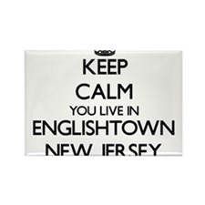 Keep calm you live in Englishtown New Jers Magnets