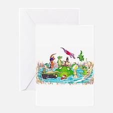 Ten Little Gator Eggs Greeting Cards