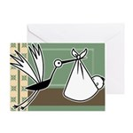 Stork Arrival Baby Greeting Card