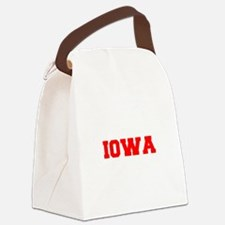 IOWA-Fre red 600 Canvas Lunch Bag