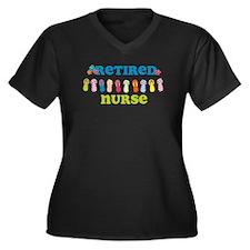 Flip Flops R Women's Plus Size V-Neck Dark T-Shirt