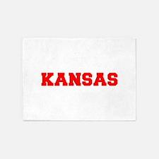 KANSAS-Fre red 600 5'x7'Area Rug