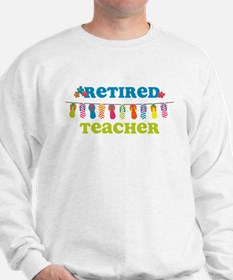 Flip Flops Retired Teacher Sweatshirt
