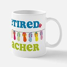 Flip Flops Retired Teacher Mug