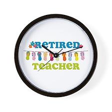Flip Flops Retired Teacher Wall Clock
