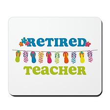Flip Flops Retired Teacher Mousepad