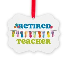 Flip Flops Retired Teacher Ornament