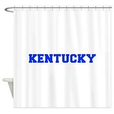 Kentucky-Fre blue 600 Shower Curtain