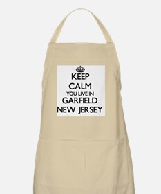 Keep calm you live in Garfield New Jersey Apron