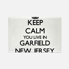 Keep calm you live in Garfield New Jersey Magnets