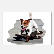 Jack Russel Terrier on Sk Postcards (Package of 8)