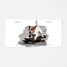 Jack Russel Terrier on Skat Aluminum License Plate