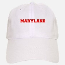 MARYLAND-Fre red 600 Baseball Baseball Baseball Cap