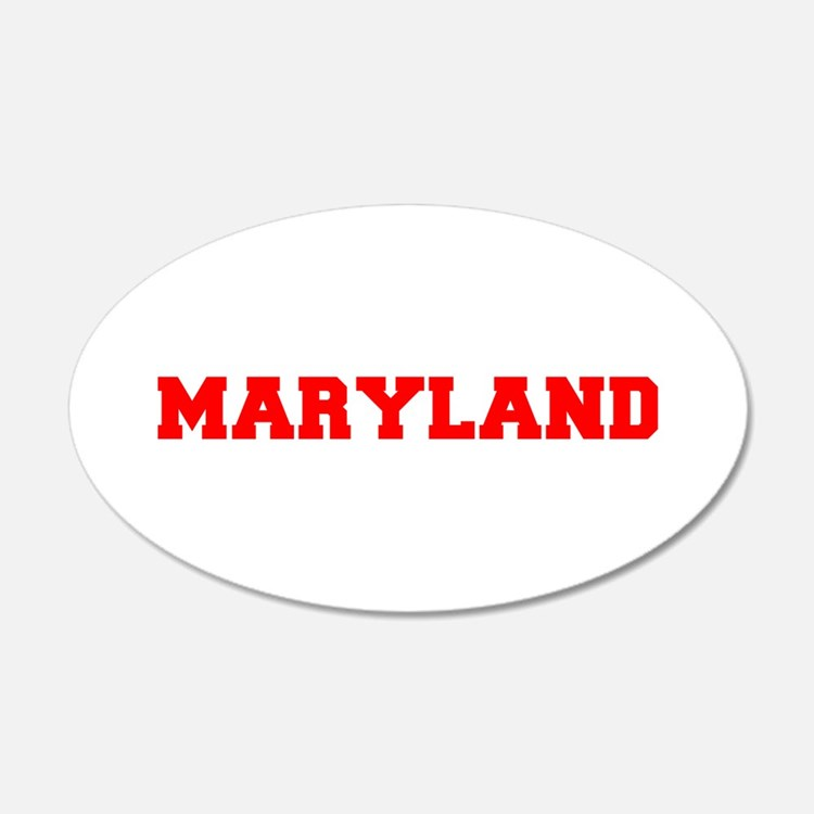 MARYLAND-Fre red 600 Wall Decal