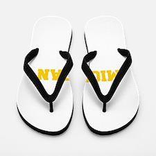 MICHIGAN-Fre gold 600 Flip Flops