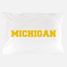 MICHIGAN-Fre gold 600 Pillow Case