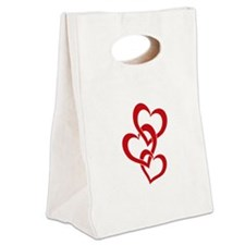 3 Hearts Canvas Lunch Tote
