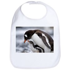 LOVE PENQUIN MOTHER AND BABY Bib