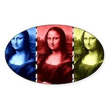 Mona Lisa Animal Print Primary Colors Decal