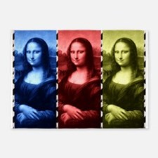 Mona Lisa Animal Print Primary Colors 5'x7'Area Ru