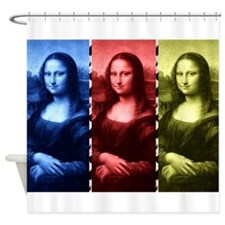 Mona Lisa Animal Print Primary Colors Shower Curta