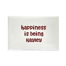 happiness is being Kayley Rectangle Magnet