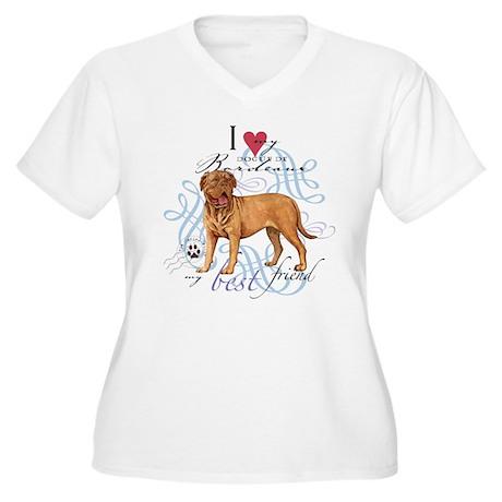 Dogue de Bordeaux Women's Plus Size V-Neck T-Shirt