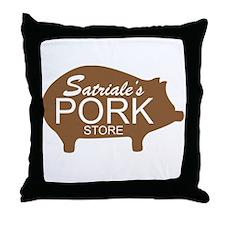 Sopranos Satriales Pork Store Throw Pillow