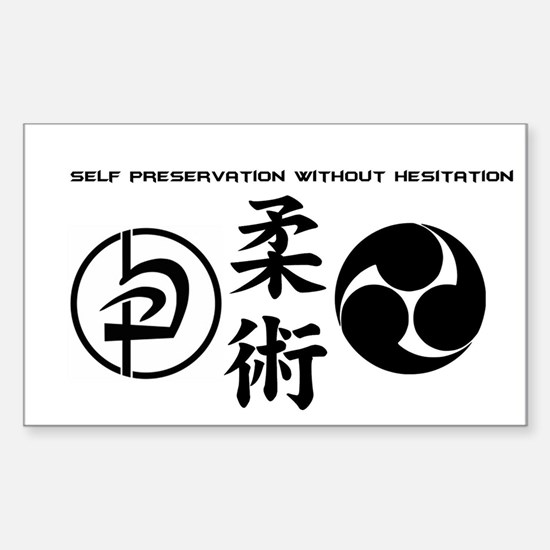 Self preservation without hesitation Decal