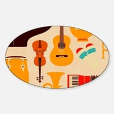 Mid Century Musical Decal