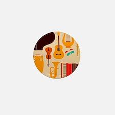 Mid Century Musical Mini Button
