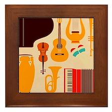Mid Century Musical Framed Tile