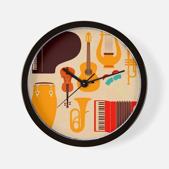 Mid Century Musical Wall Clock